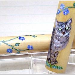 Roller Empreinte, petite chatte sur buis, attributs chorme