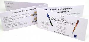 Certificat de garantie 9