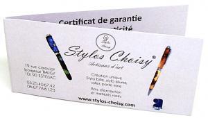 Certificat garantie 1