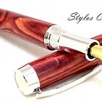 Plume cofidence senior palissandre bois de rose platine et or 22 carats 7