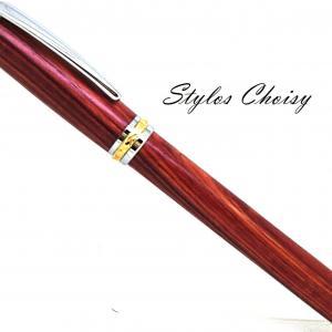 Plume desir palissandre bois de rose chrome et or 10 carats 1