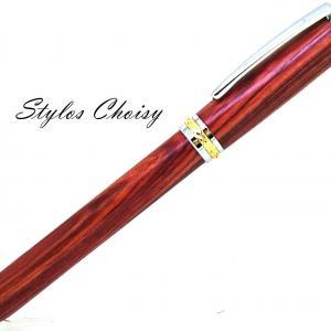 Plume desir palissandre bois de rose chrome et or 10 carats 2