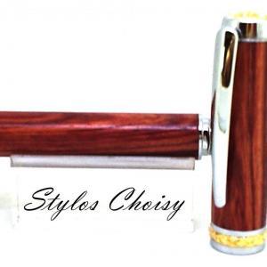Plume desir palissandre bois de rose chrome et or 10 carats 4