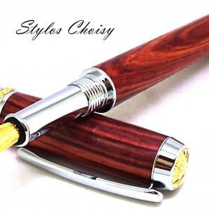 Plume desir palissandre bois de rose chrome et or 10 carats 6