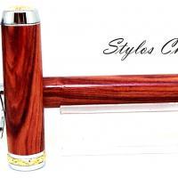 Plume desir palissandre bois de rose platine et or 10 carats 13
