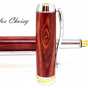 Plume desir palissandre bois de rose platine et or 10 carats 5