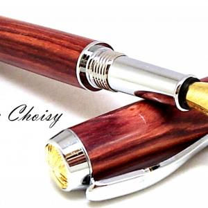 Plume desir palissandre bois de rose platine et or 10 carats 7