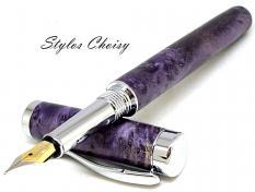 Plume emotion bouleau gele ecostabilise violet et platine 7