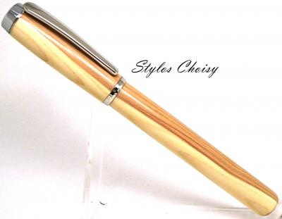 Stylo Plume collection Empreinte en lilas de Champagne