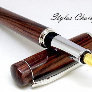 Plume empreinte palissandre bois de violette et platine 1 6