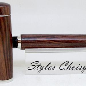 Plume empreinte palissandre bois de violette et platine 10