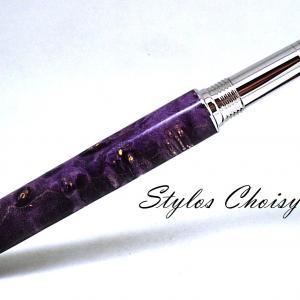 Plume reflexion loupe d erable negundo ecostabilise violet platine et or 14 carats 5