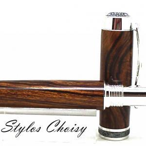 Plume reflexion loupe de bois de fer d arizona platine et titane 9