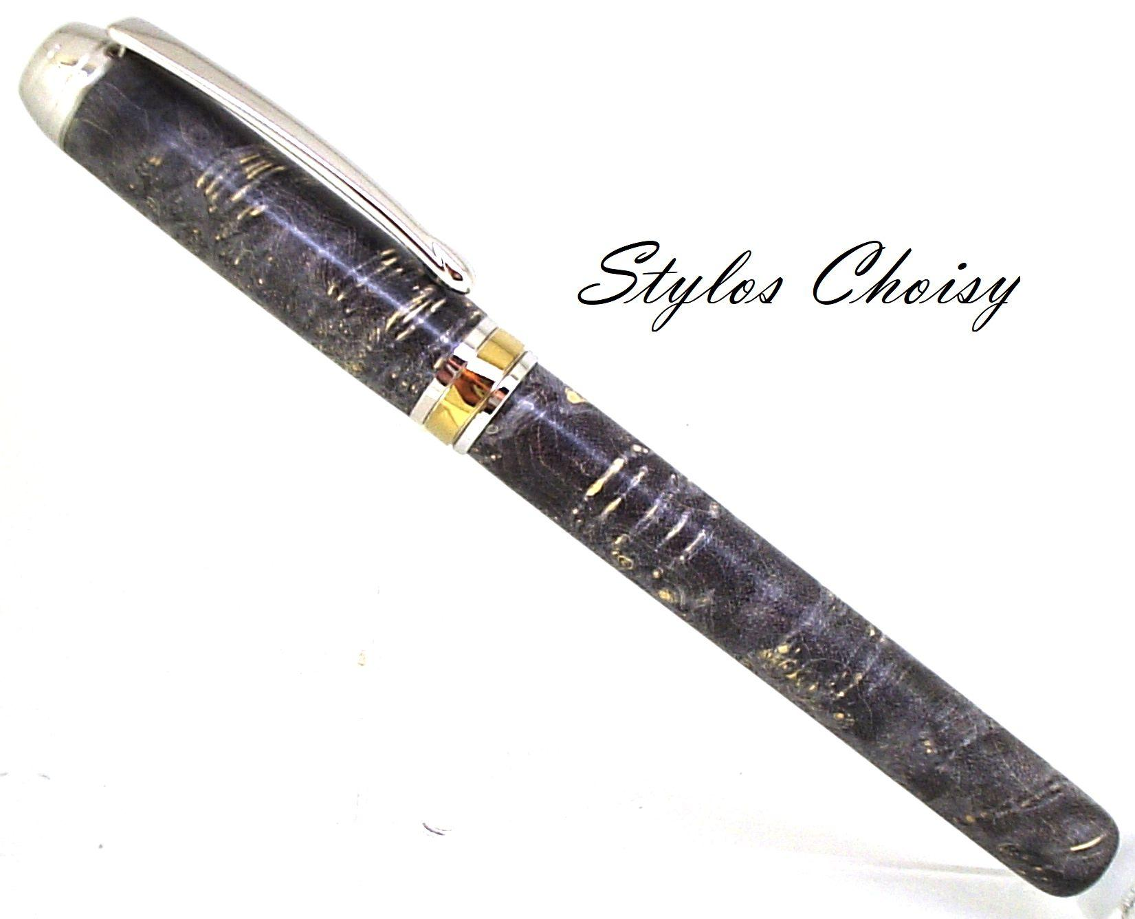 Plume serenite loupe d erable negundo stab noire platine et titanium 1