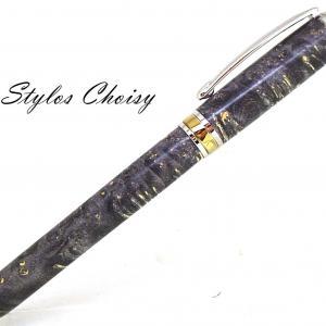 Plume serenite loupe d erable negundo stab noire platine et titanium 2