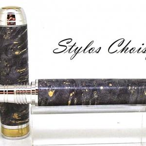 Plume serenite loupe d erable negundo stab noire platine et titanium 4