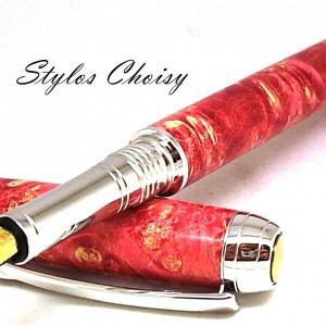 Plume serenite loupe d erable negundo stab rouge platine et titanium 5