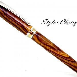 Plume serenite loupe de bois de fer d arizona platine et titanium 1