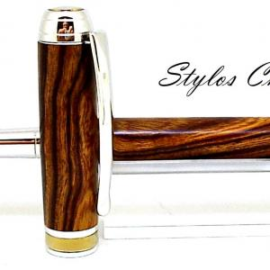 Plume serenite loupe de bois de fer d arizona platine et titanium 5