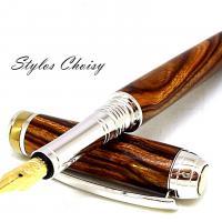 Plume serenite loupe de bois de fer d arizona platine et titanium 7