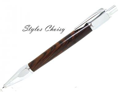 "Porte mine 2 mm collection ""Silhouette"" en COCOBOLO du Costa Rica"