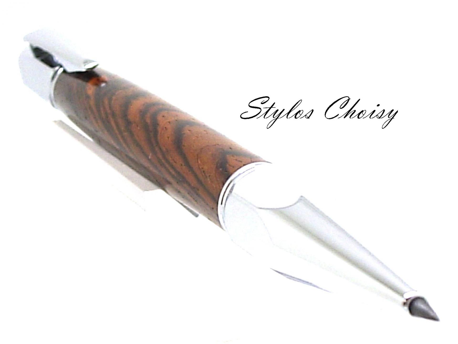 Porte mine 2 mm silhouette cocobolo et chrome 3
