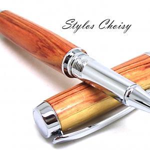 Roller decouverte bois de rose et chrome 8