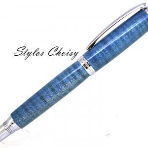 Roller decouverte erable sycomore onde ecostabilise bleu et chrome 2