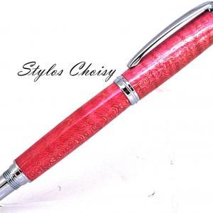 Roller decouverte erable sycomore onde ecostabilise rose rouge et chrome 2