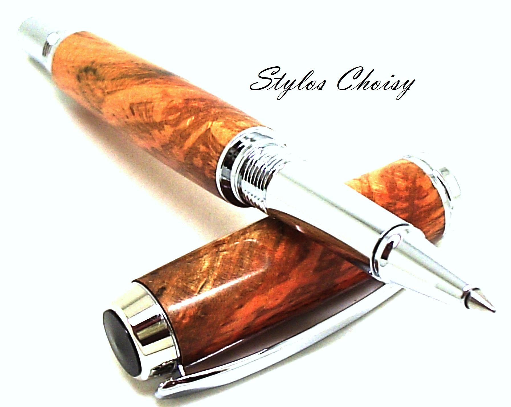 Roller decouverte hetre echauffe stabilise orange et chrome 4