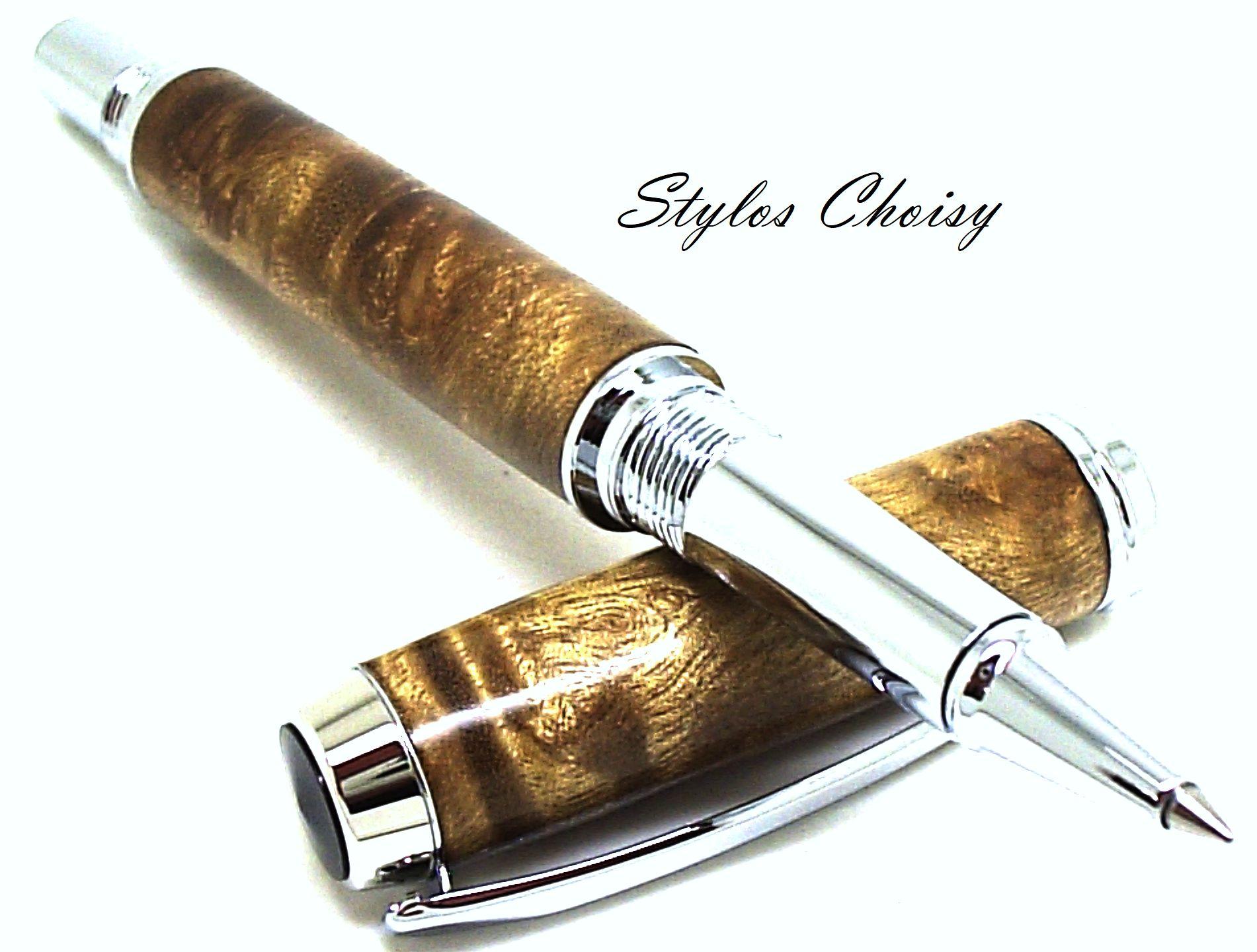 Roller decouverte loupe de laurel et chrome 4