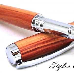 Roller decouverte palissandre bois de rose et chrome 4
