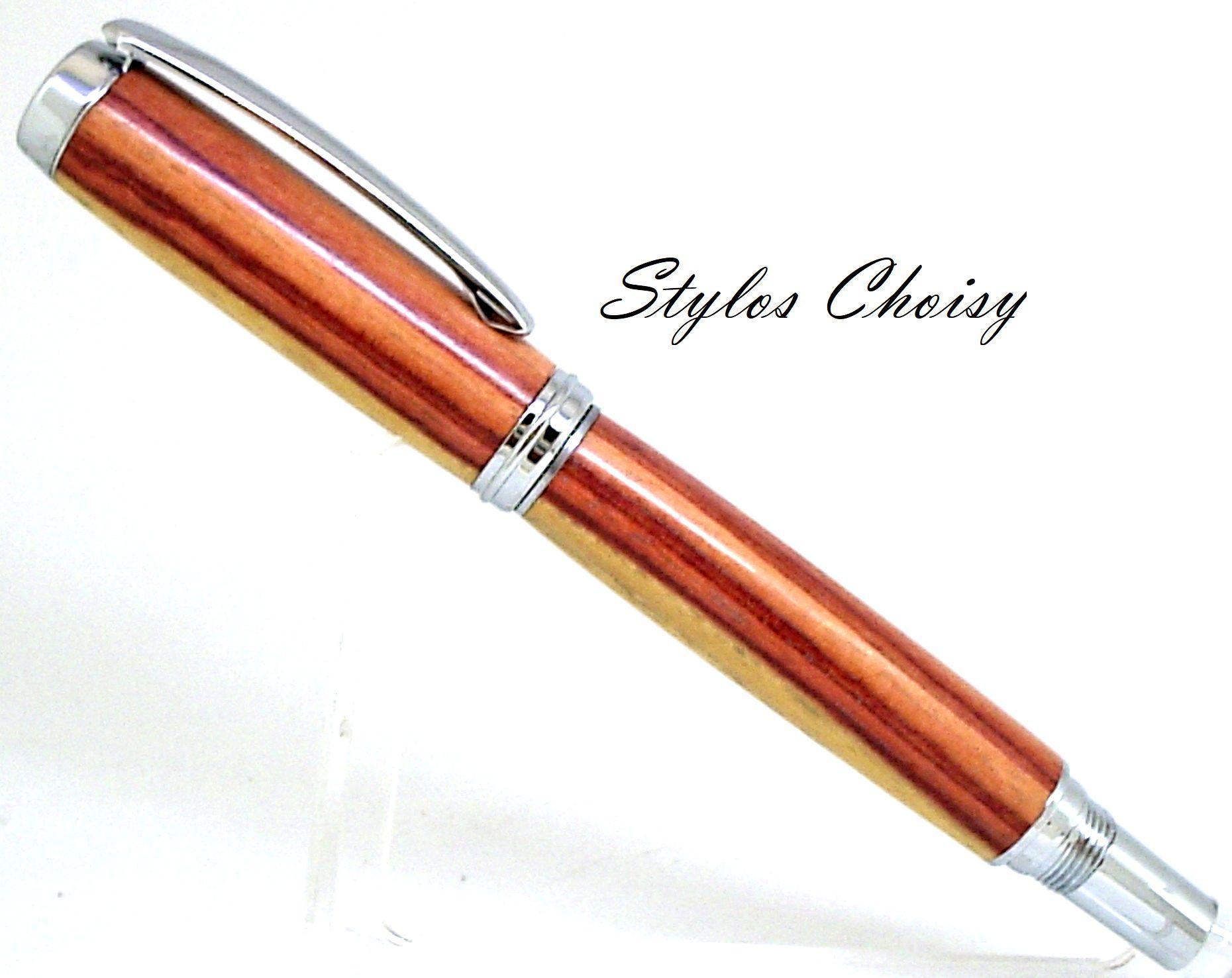 Roller decouverte palissandre bois de rose et chrome 5