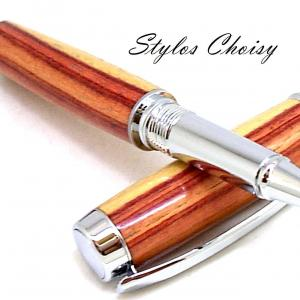 Roller decouverte palissandre bois de rose et chrome 8