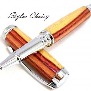 Roller decouverte palissandre bois de rose et chrome 9