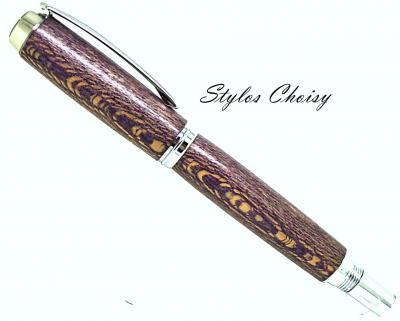Roller Découverte en platane écostabilisé violet et chrome