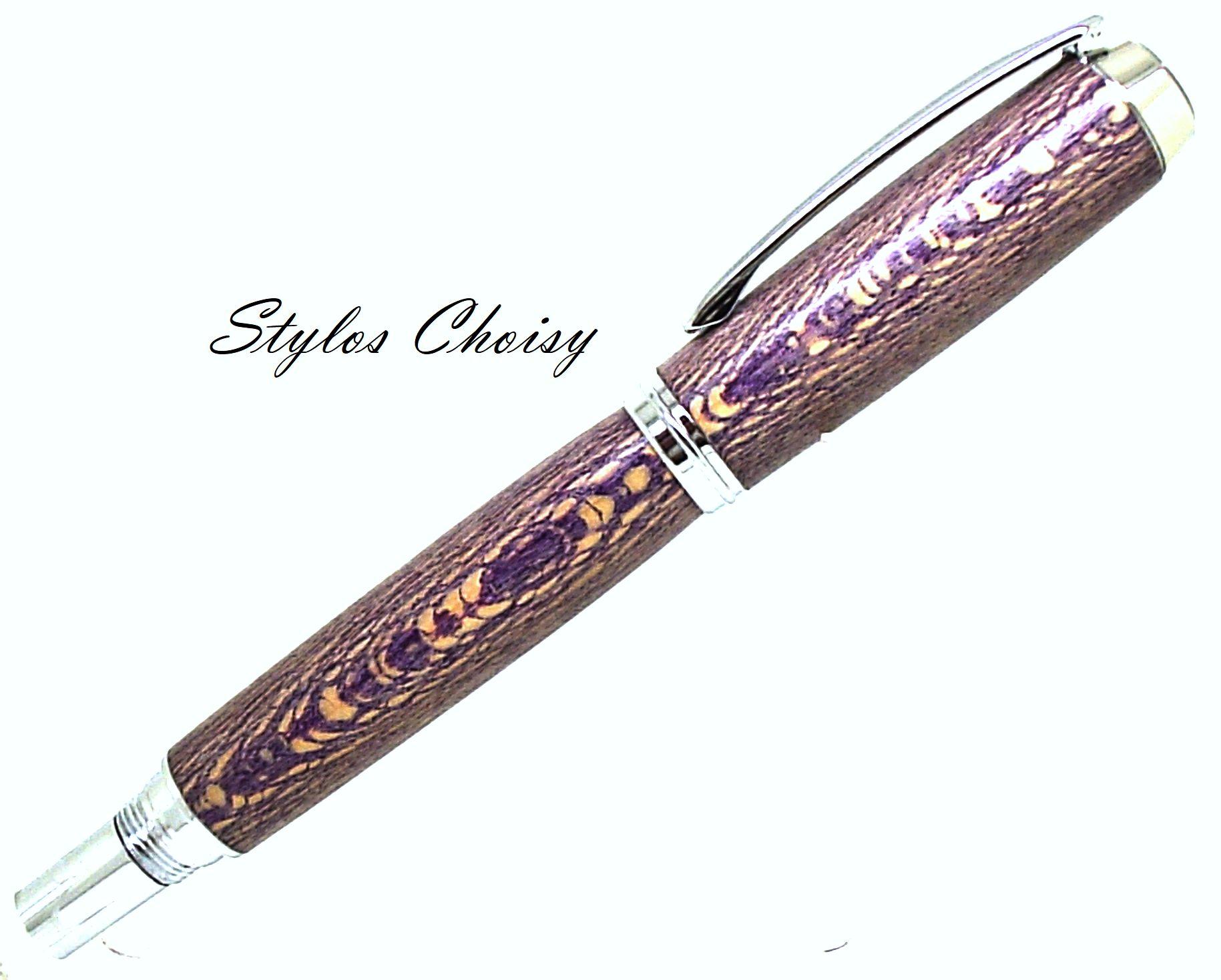 Roller decouverte platane stabilise violet et chrome 2