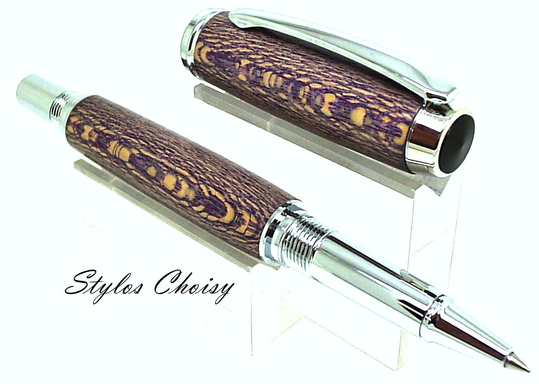 Roller decouverte platane stabilise violet et chrome 3