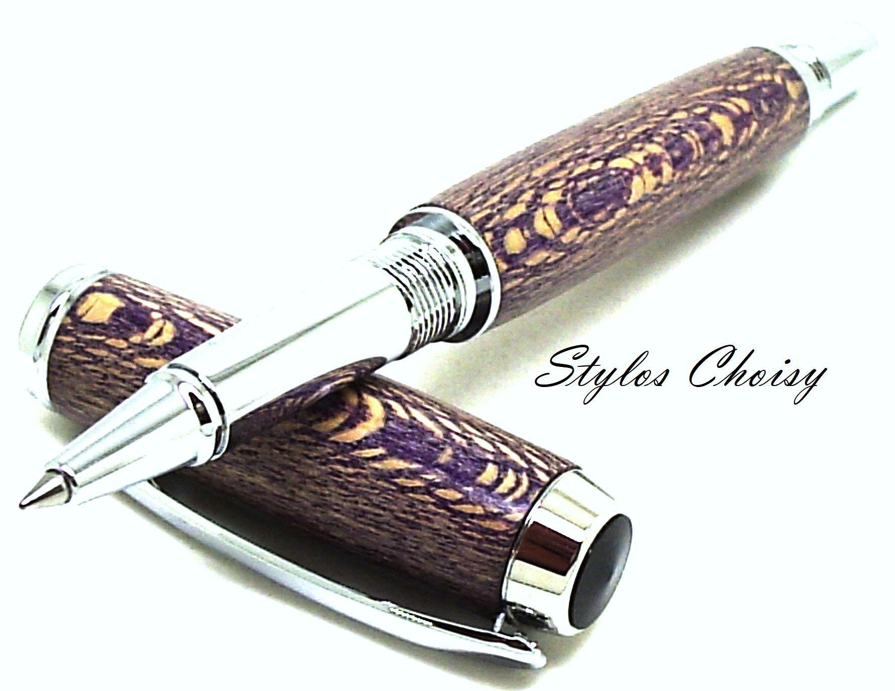 Roller decouverte platane stabilise violet et chrome 4