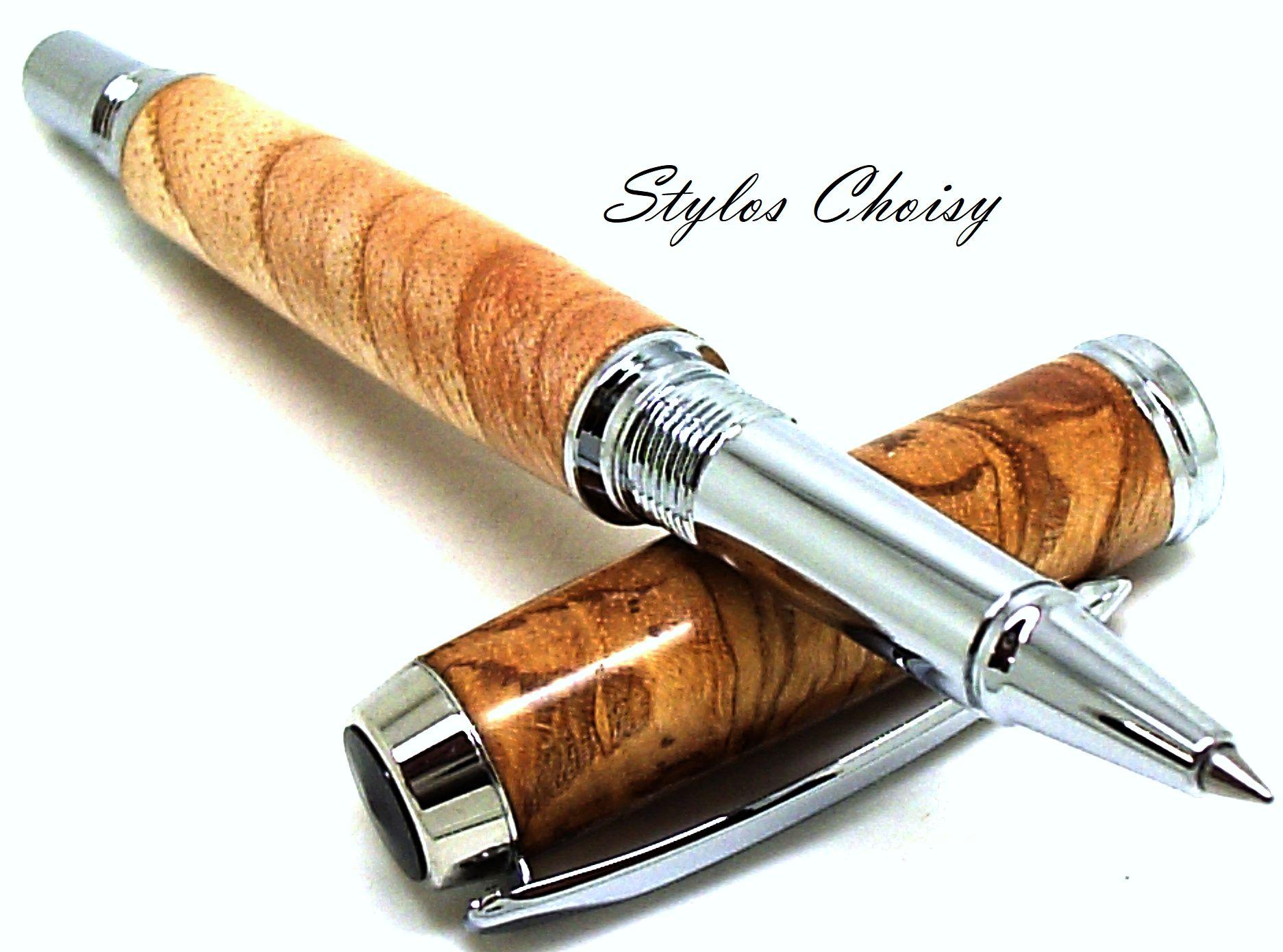 Roller decouverte ronce de frene olivier et chrome 4