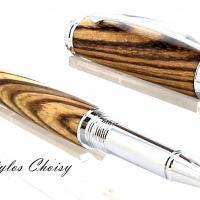 Roller decouverte zebrano et chrome 3