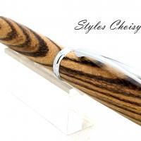 Roller decouverte zebrano et chrome 4