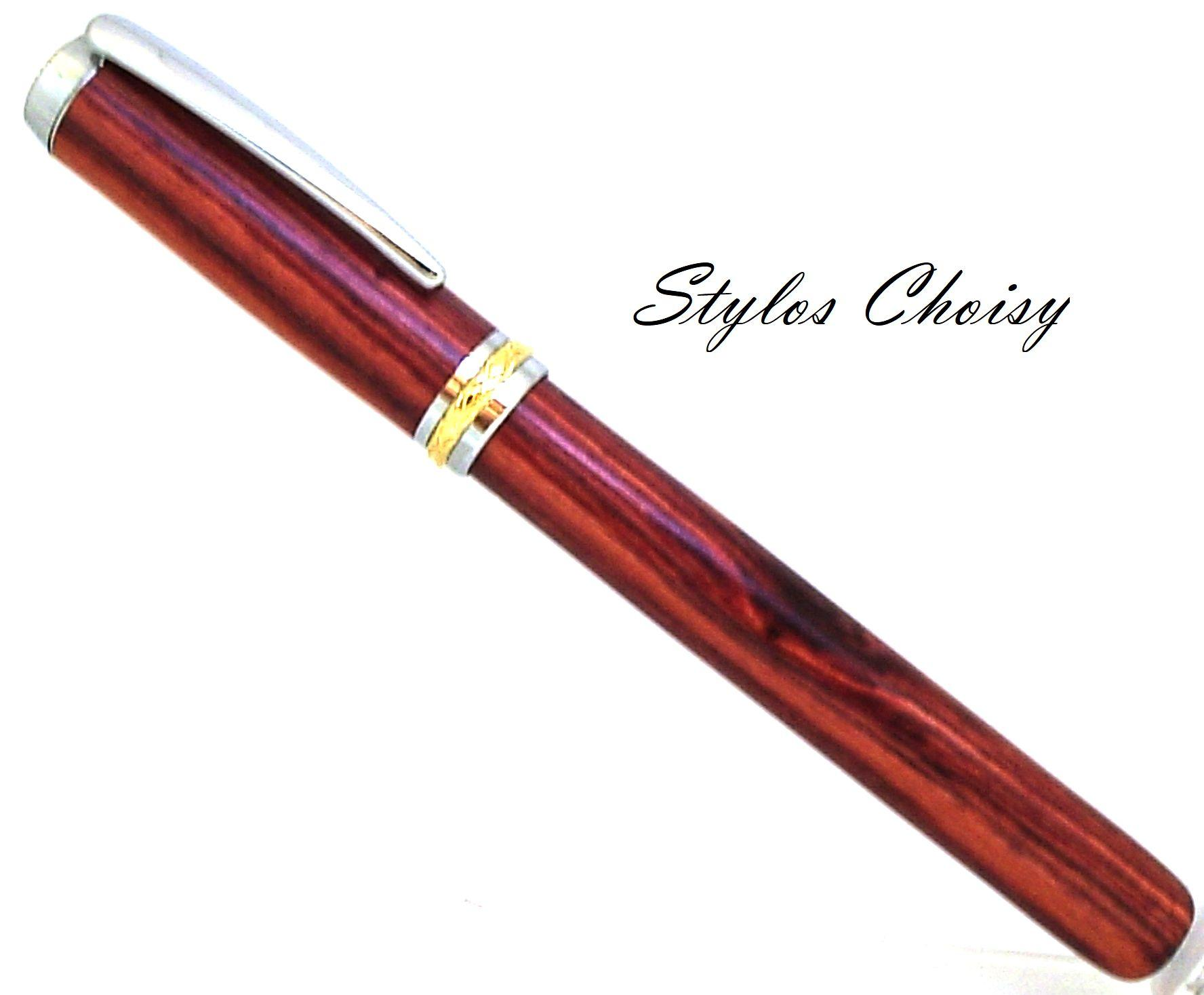 Roller desir palissandre bois de rose chrome et or 10 carats 1