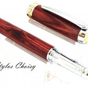 Roller desir palissandre bois de rose chrome et or 10 carats 3