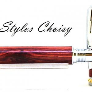 Roller desir palissandre bois de rose chrome et or 10 carats 5