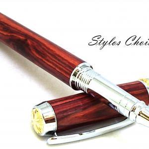 Roller desir palissandre bois de rose chrome et or 10 carats 6