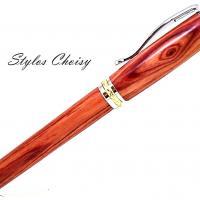 Roller desir palissandre bois de rose platine et or 14 carats 2