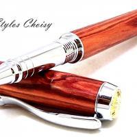 Roller desir palissandre bois de rose platine et or 14 carats 5