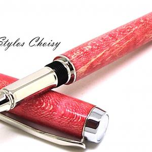 Roller empreinte loupe d erable ecostabilise rouge et platine 4