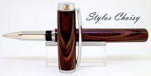 Roller empreinte palissandre bois de violette et platine 5